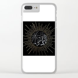 Solar Eclipse Illustration Clear iPhone Case