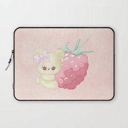 Raspberry Cutie Bear Laptop Sleeve