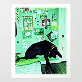 just like the man whose feet were too big for his bed. Art Print