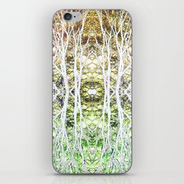 124 - White branches design iPhone Skin