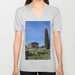 templi di paestum Unisex V-Neck