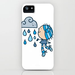 Rain Cloud Girl iPhone Case