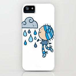 Rain Cloud Girl iPhone Case