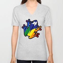 Puerto rican coqui pride colors Unisex V-Neck