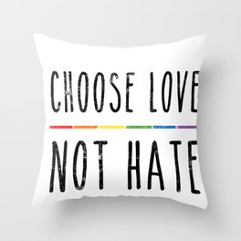 LGBT Support Straight Gay Pride Ally Month Statement Gifts Throw Pillow
