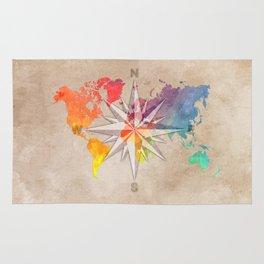 world map wind rose 1 #worldmap #map Rug