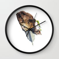 climbing Wall Clocks featuring Climbing by Lerson