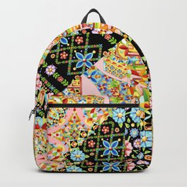 Crazy Patchwork Triangles Backpack