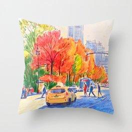 November in Central Park, Manhattan  Throw Pillow
