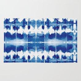 Shibori Tie Dye Indigo Blue Rug