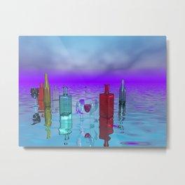glass bottles Metal Print