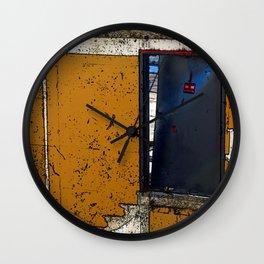 Abandoned Theatre - Black Door Wall Clock