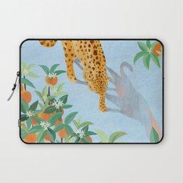 Leopard and Orange Trees Laptop Sleeve