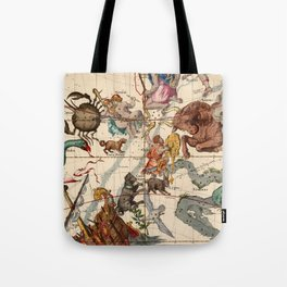 Constellation Chart 1693c Tote Bag