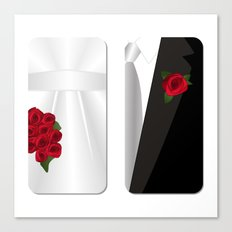 Bride&Groom/Groom's Suit Canvas Print