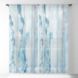 Summer Blues Sheer Curtain