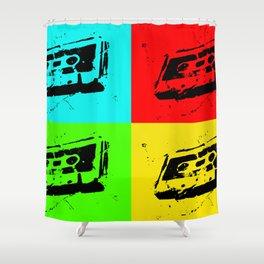 Cassettes Square Shower Curtain