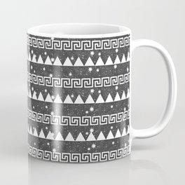 Mountain Pattern Grey Coffee Mug