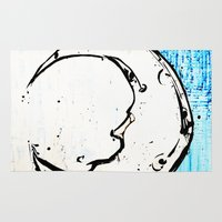 luna lovegood Area & Throw Rugs featuring Luna by Alux Medina