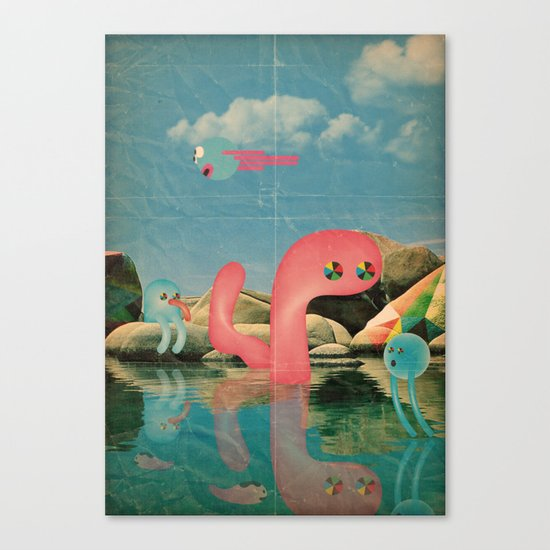 lago animato Canvas Print