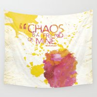 chaos Wall Tapestries featuring Chaos by PAZWAZ