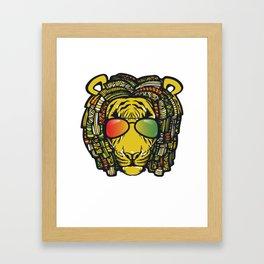 Jamaican Lion product Gift for Rastas & Reggae Music lovers Framed Art Print
