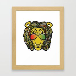 Jamaican Lion product Gift for Rastas & Reggae Music lovers Framed Art Print