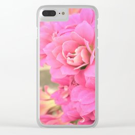 peach colored flower Clear iPhone Case