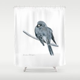 Black-Eyed Junco by Teresa Thompson Shower Curtain