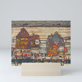 Egon Schiele - Houses with laundry (Suburb II) 1914 Mini Art Print