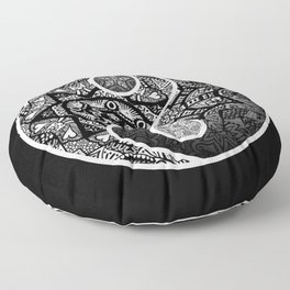 Yin Yang Zentangle Floor Pillow