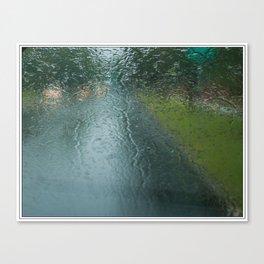 Lights in the Rain Canvas Print