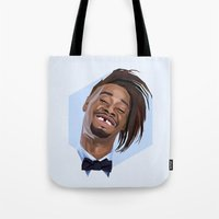 danny haas Tote Bags featuring Danny Brown by LinnMaria_ink