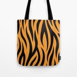 Tiger Stripes Pattern - Orange, Black Tote Bag