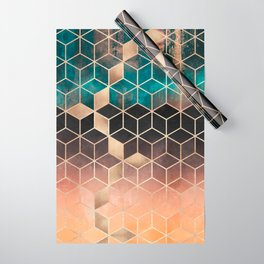 Ombre Dream Cubes Wrapping Paper