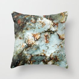 Gray Rock Coral Flecks Throw Pillow