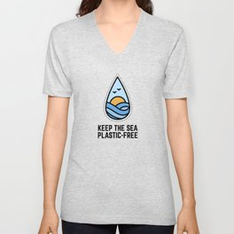 fridays for future Climate Change. Do something now, not later. Save the world. Unisex V-Neck