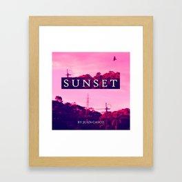 Sunset Horizont Framed Art Print