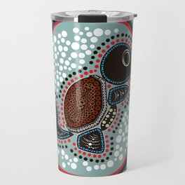 Aboriginal Water Turtle Travel Mug