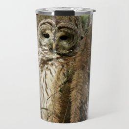 Beautiful Barred Owl Travel Mug