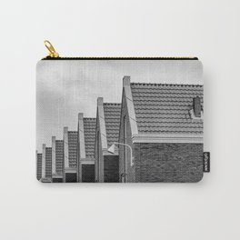 Modern city life - Vathorst Amersfoort The Netherlands photo | Repetitive pattern black and white monochrome photography art print Carry-All Pouch