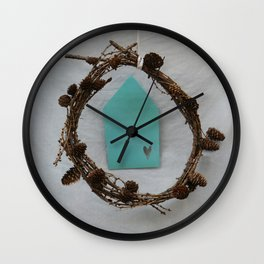 Crown of branches Wall Clock