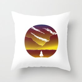 Cosmic cowboy Throw Pillow