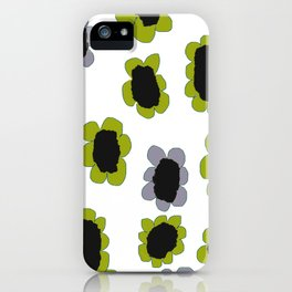 Daisies - Avocado and Slate iPhone Case