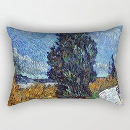 Vincent van Gogh - Road with Cypress and Star Rectangular Pillow