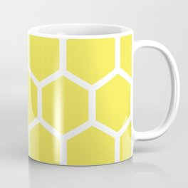 Honeycomb pattern - lemon yellow Coffee Mug