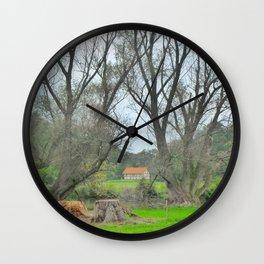 Green World II. Wall Clock