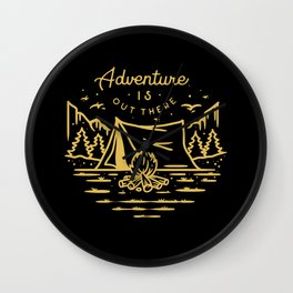 adventure is out there Wall Clock