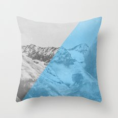 NEON NATURE | Blue Throw Pillow