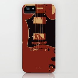Red Electric Guitar iPhone Case